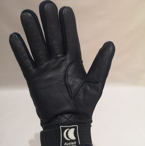 Auclair moto gloves leather and fabric combination